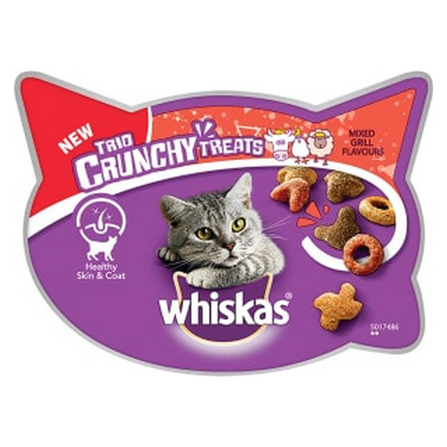 Whiskas Trio Crunchy Cat Treat Mixed Grill 55g