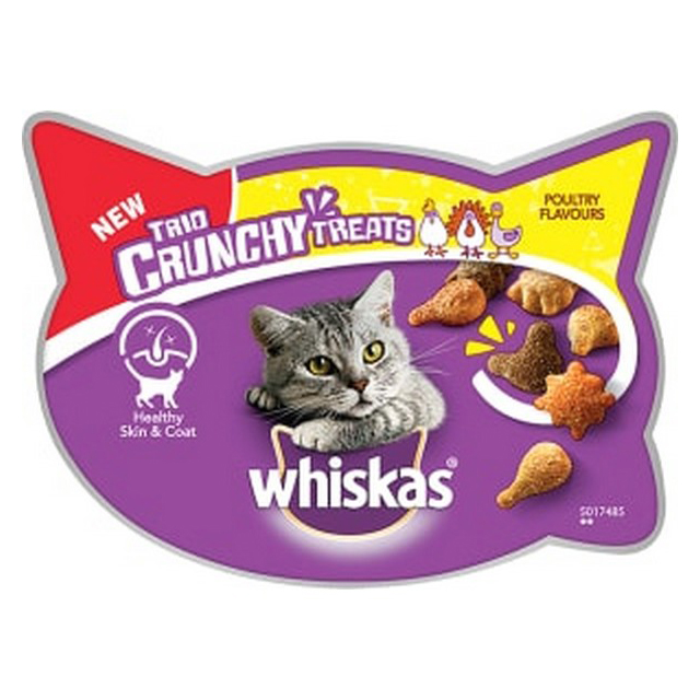 Whiskas Trio Crunchy Cat Treat Poultry Flavours 55g