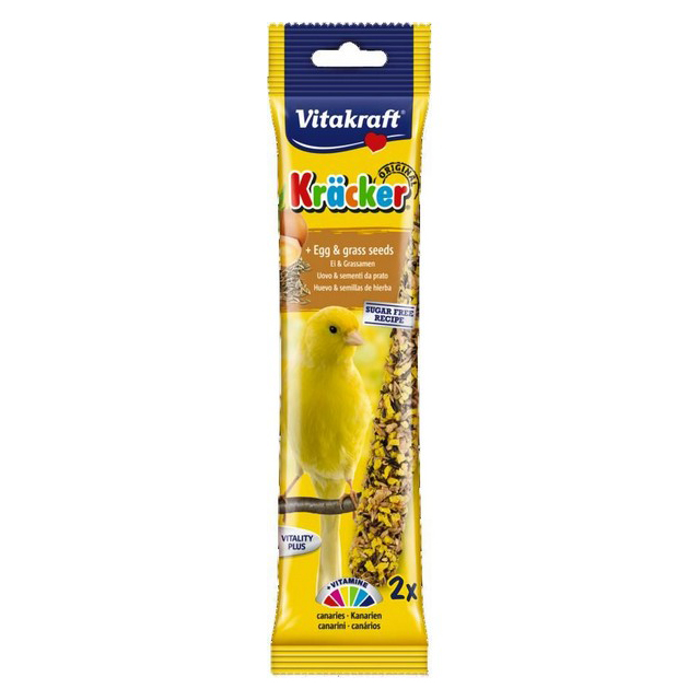 Vitakraft Canary Kracker Egg-Grass Seeds (2Pk) [DCse 7]