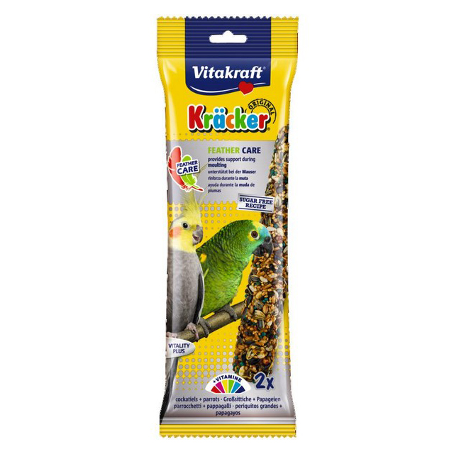 Vitakraft Kracker Feather Care Cockatiel/Parrot [DCse 5]