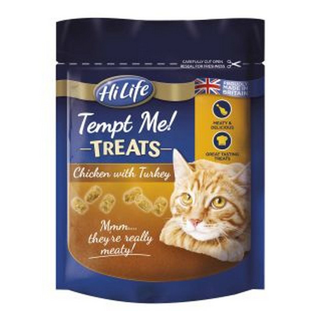 HiLife Tempt Me Treats with Chicken & Cheese 60g