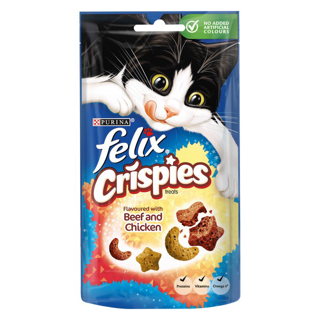 Felix Crispies Beef and Chicken 45g [DCse 8]