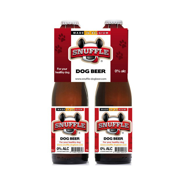 Snuffle Dog Beer Mixed Chicken & Beef Flavour 4 Pack 25cl