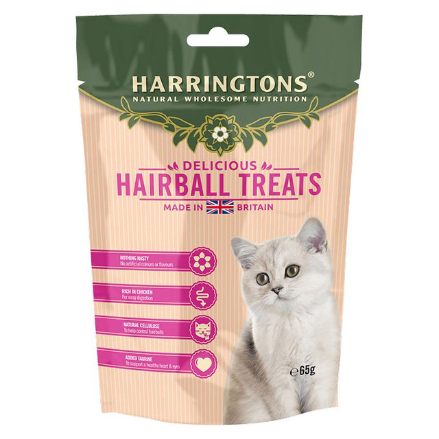 Harringtons Cat Treats Hairball Control 65g [DCse 12]