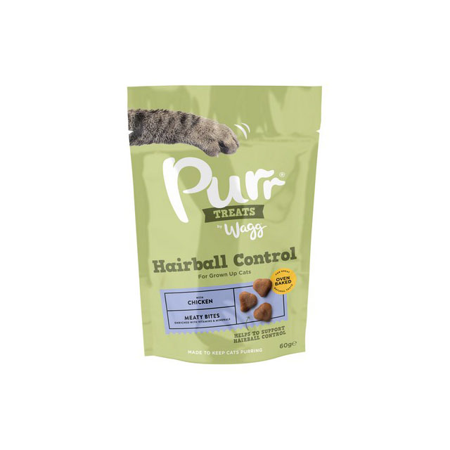 Wagg prrrs Cat Treats Hairball Control 60g [DCse 12]