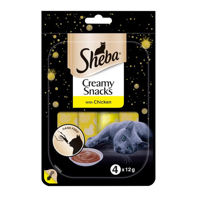 Sheba Creamy Snack Treats Chicken 4x12g