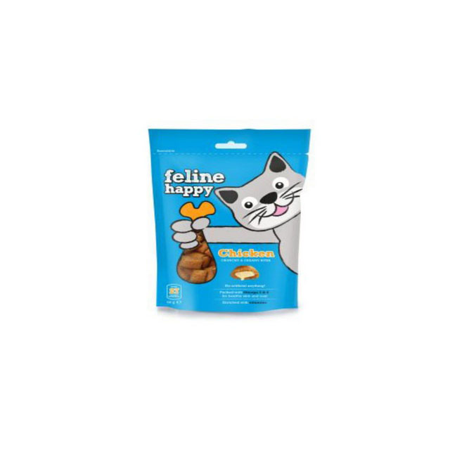 M & C Feline Happy Chicken Bites Cat Treats 60g [DCse 8]