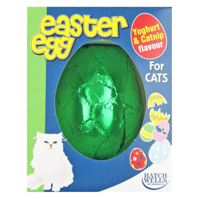 Hatchwell Cat Yoghurt Drop/Catnip Easter Egg 40g