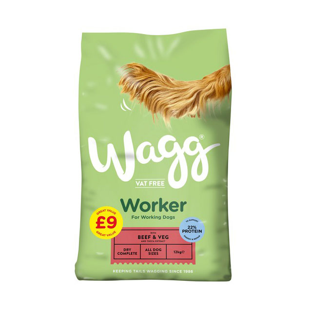 Wagg Worker Beef and Veg 12kg  PMP 9.00